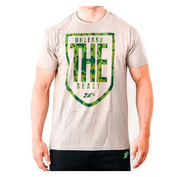 ZEC+ UNLEASH THE BEAST Herren T-Shirt in Olivgrün