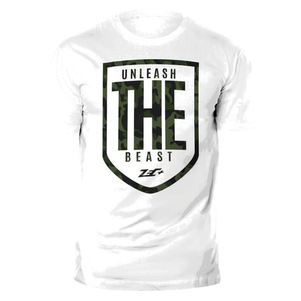 ZEC+ UNLEASH THE BEAST Herren T-Shirt weiß