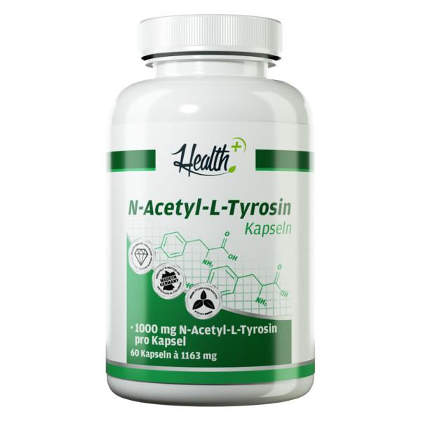 HEALTH+ N-ACETYL-L-TYROSIN Kapseln 1000 mg, 60 Stück