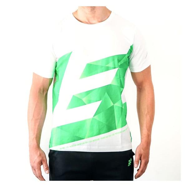 ZEC+ Herren Shirt ATHLETIC POLYGON in Weiß